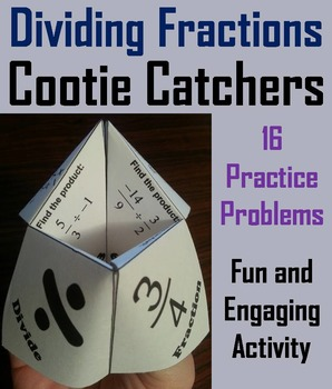 Dividing Fractions Game 4th 5th 6th Grade