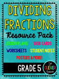 Dividing Fractions - Lesson Plans, Task Cards, and Quiz