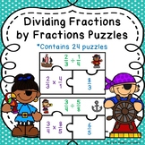 Multiplying and Dividing Fractions Activity Game Puzzles 6th Grade Math 6.NS.1