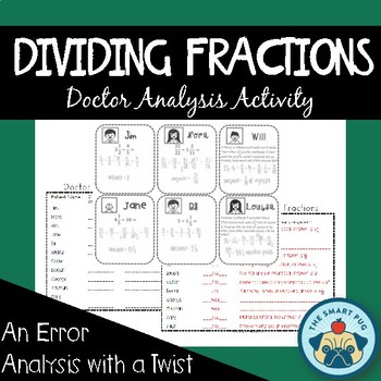 Dividing Fractions Activity - Doctor Analysis (Error Analysis)