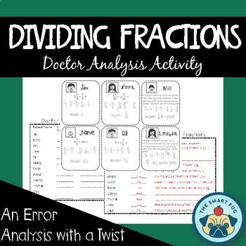 Dividing Fractions Activity - Doctor Analysis (Error Analysis)