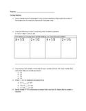 Dividing Fractions Assessment