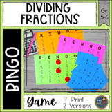 Dividing Fractions BINGO Math Game
