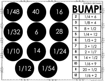 Dividing Fractions BUMP Games