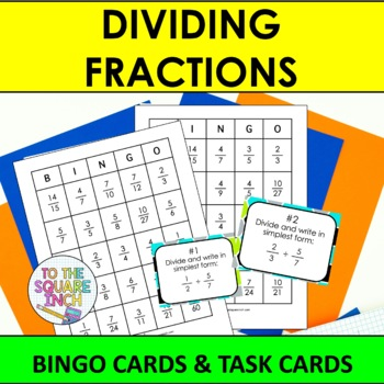 Dividing Fractions Bingo