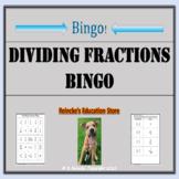 Dividing Fractions Bingo (30 pre-made boards!)