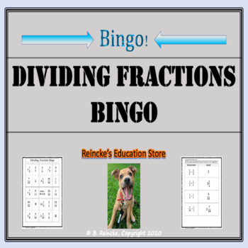 Dividing Fractions Bingo (30 pre-made boards!)