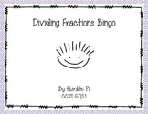 Dividing Fractions Bingo- 6.NS.1