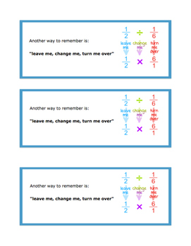 Dividing Fractions Bookmarks