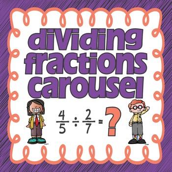 Dividing Fractions Carousel