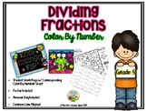 Dividing Fractions Color By Number