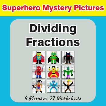 Dividing Fractions - Color-By-Number Math Mystery Pictures