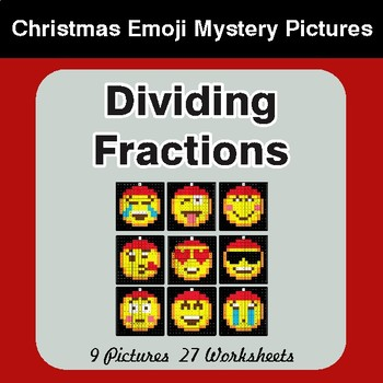 Dividing Fractions - Color-By-Number Mystery Pictures