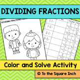 Dividing Fractions Color and Solve