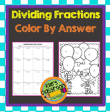 Dividing Fractions Color by Answer