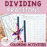 Dividing Fractions Coloring Activity