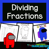 Dividing Fractions Coloring Book Math