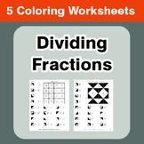 Dividing Fractions - Coloring Worksheets
