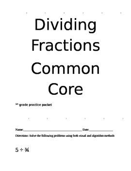 Dividing Fractions Common Core