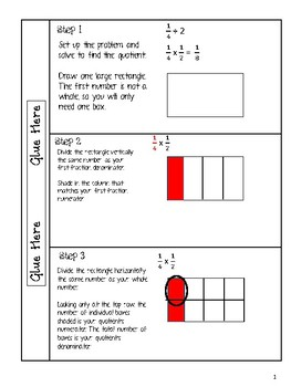 Dividing Fractions Differentiated Interactive Notes