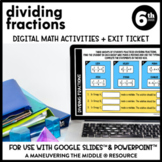Dividing Fractions Digital Math Activity