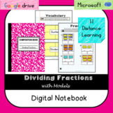 Dividing Fractions Digital Notebook (VA SOL 6.5ab) - Video