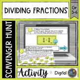 Dividing Fractions Digital Math Scavenger Hunt Distance Learning