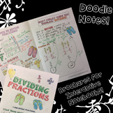 Dividing Fractions - Decorated Notes Brochure for Interactive Notebooks