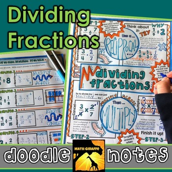Dividing Fractions Doodle Notes