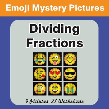 Dividing Fractions EMOJI Math Mystery Pictures