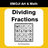 Dividing Fractions - Emoji Art & Math - Draw by Number | Coloring Pages