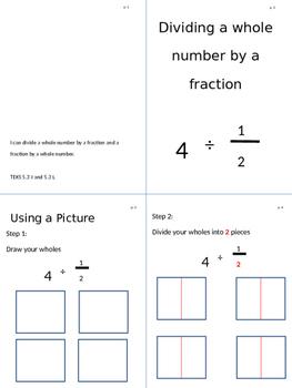 Dividing Fractions Flipbook