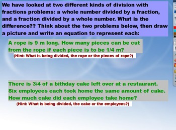 5.NF.7 Dividing Fractions Flipchart
