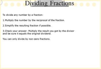 Dividing Fractions Flipchart Lesson