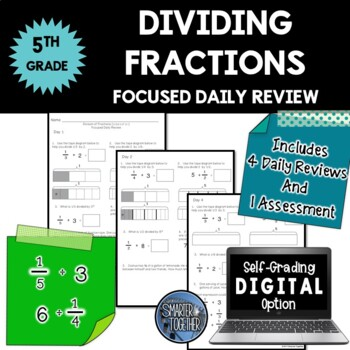Dividing Fractions - Focused Daily Review - Common Core -