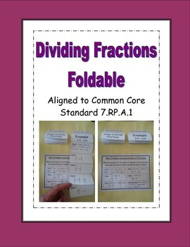 Dividing Fractions Foldable