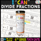 6th Grade Dividing Fractions Game
