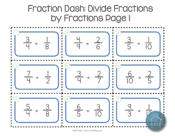Dividing Fractions Game