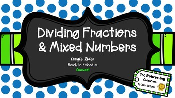 Dividing Fractions: Google Slides to Embed in Canvas