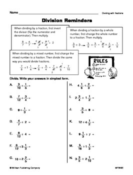 Dividing Fractions (CCSS 6.NS.A.1)