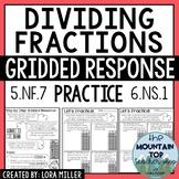 Dividing Fractions Gridded Response Practice