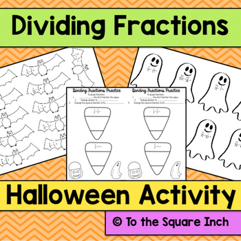 Dividing Fractions Halloween Activity