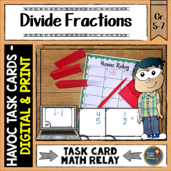 Dividing Fractions Havoc Relay