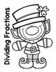 Dividing Fractions Leprechaun Craftivity