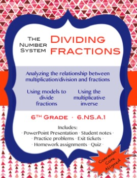 Dividing Fractions Lesson Pack {6th Grade 6.NS.A1}