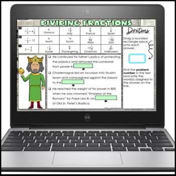 Dividing Fractions Story Activity