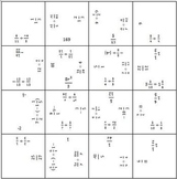 Dividing Fractions - Make a Square