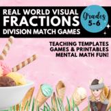 Dividing Fractions Match Game & Scoot Task Cards Understan