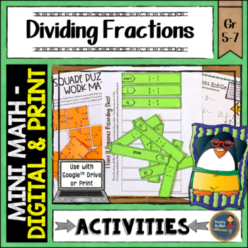 Dividing Fractions Math Activities Puzzles and Riddle