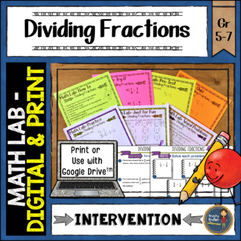 Dividing Fractions Math Lab Intervention